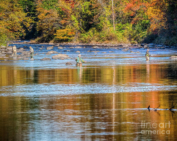 Photograph - Fall Fishing Reflections by Tom Cameron