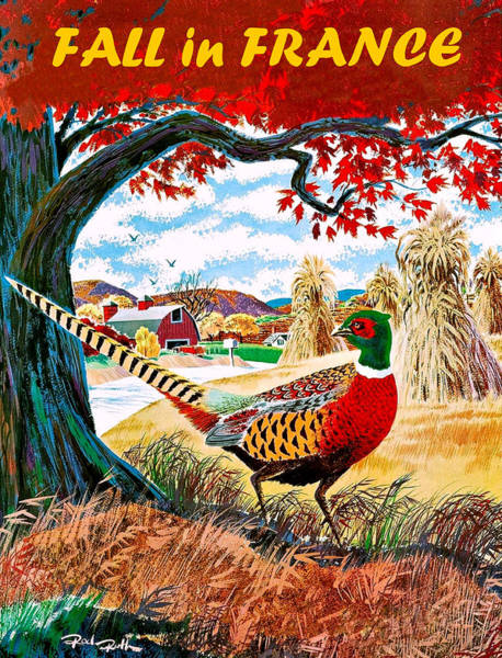 Pheasant Digital Art - Fall In France by Long Shot
