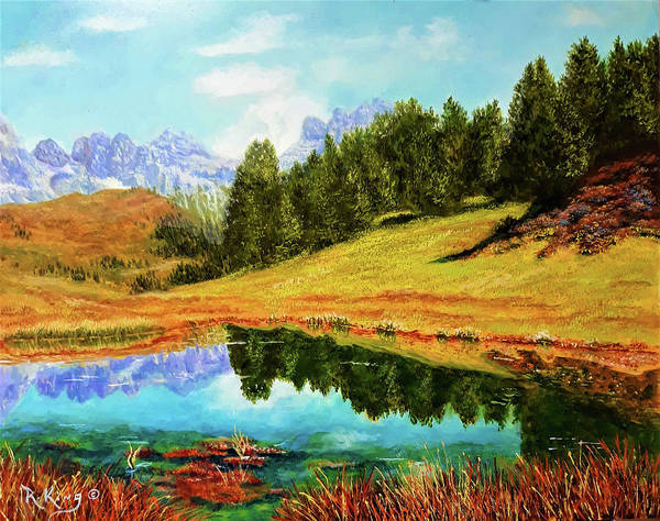 Wall Art - Painting - Fall In The Mountains by Roena King