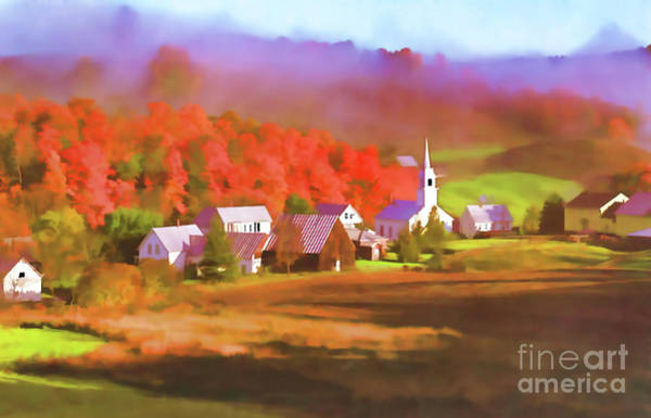 Digital Art - Fall In The Valley by D Hackett