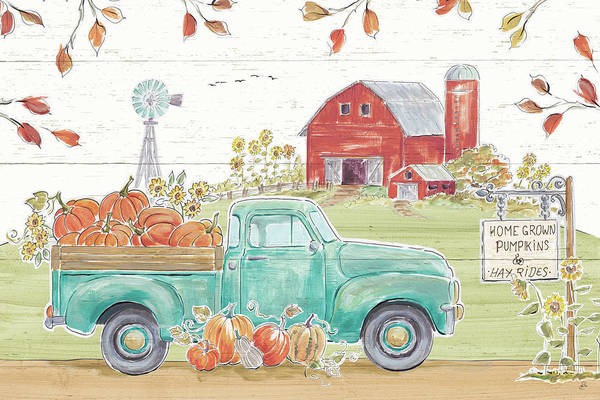 Wall Art - Painting - Fall Market I by Daphne Brissonnet