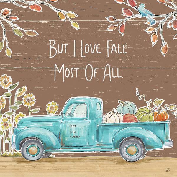 Wall Art - Painting - Fall Market Iv On Walnut by Daphne Brissonnet