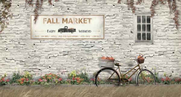 Fall Scenery Mixed Media - Fall Market by Lori Deiter