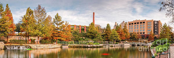 Wall Art - Photograph - Fall Panorama Of Pearl Brewery, Hotel Emma, And San Antonio Riverwalk - Bexas County Texas by Silvio Ligutti