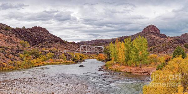 Photograph - Fall Panorama Of Rio Grande Del Norte At Orilla Verde And Taos Canyon - New Mexico Desert Southwest by Silvio Ligutti