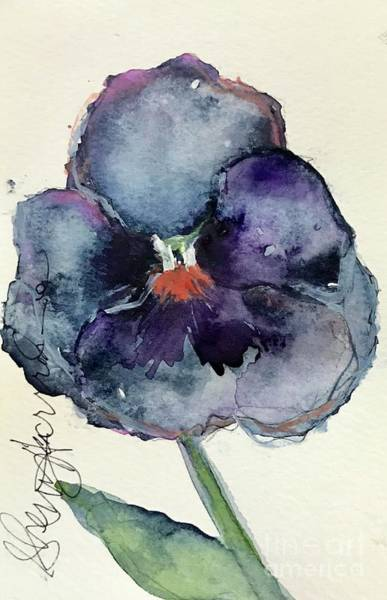 Painting - Fall Pansy  by Sherry Harradence