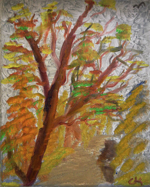 Painting - Fall Path Absract by Chance Kafka
