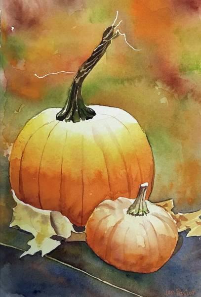 Wall Art - Painting - Fall Pumpkin by Jan Pastor