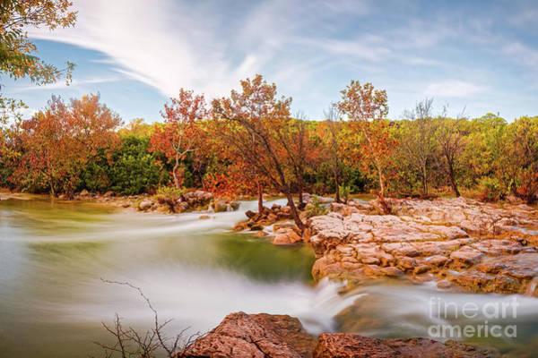 Photograph - Fall Scene At Barton Creek Twin Falls - Austin Texas Hill Country by Silvio Ligutti