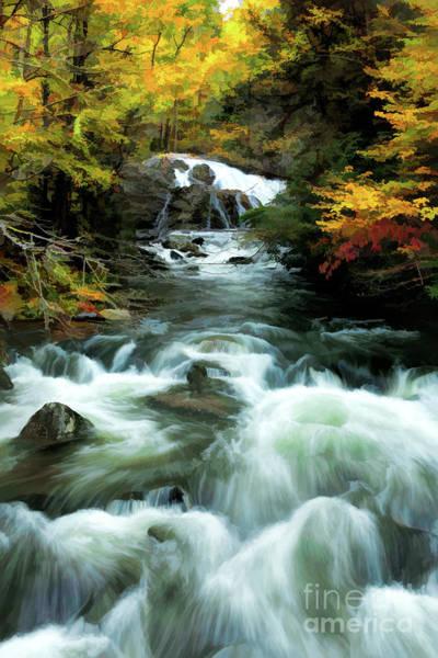 Wall Art - Photograph - Fall Water Fall Fx by Dan Carmichael