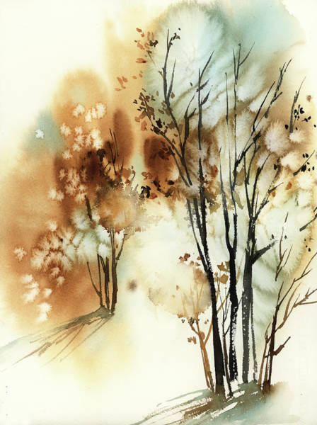 Wall Art - Painting - Fall Watercolor by Sophia Rodionov