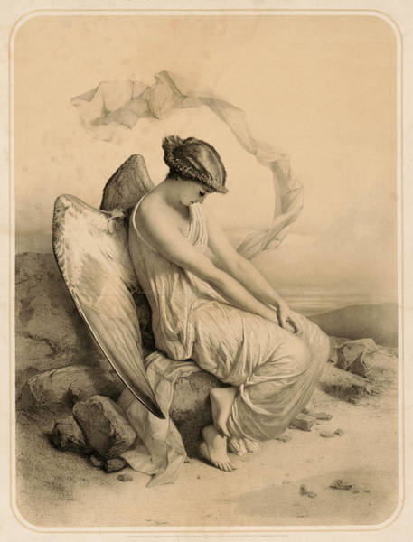 Wall Art - Painting - Fallen Angel, 1851 by American School