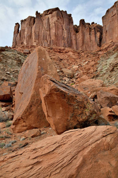 Photograph - Fallen Boulders In Mineral Bottom Of Canyonlands by Ray Mathis