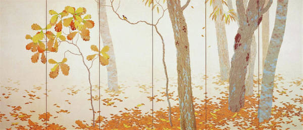 Wall Art - Painting - Fallen Leaves I - Digital Remastered Edition by Hishida Shunso