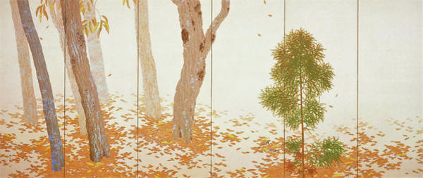Wall Art - Painting - Fallen Leaves II - Digital Remastered Edition by Hishida Shunso