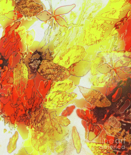 New Leaf Mixed Media - Fallen Leaves by Sharon Williams Eng