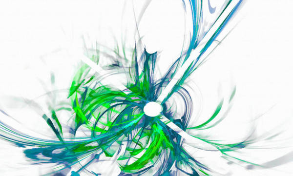 Digital Art - Falling Color Blue Green by Don Northup