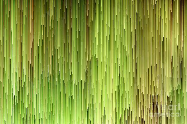 Wall Art - Digital Art - Falling Green by John Edwards