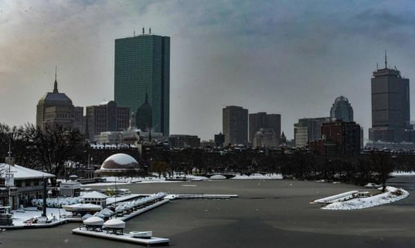 Photograph - Falling Snow Upon Boston by Christina Maiorano