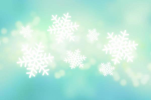 Close Digital Art - Falling Snowflakes by Nicholas Monu