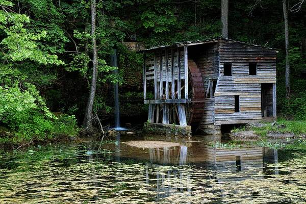 Photograph - Falling Spring Mill by Wesley Nesbitt