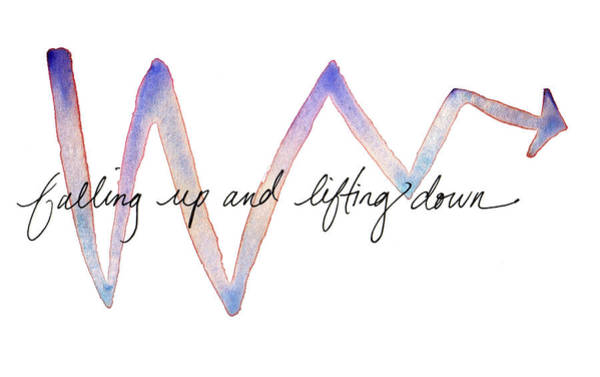 Painting - Falling Up And Lifting Down by Anna Elkins