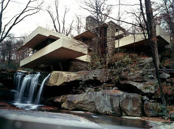 Wall Art - Photograph - Falling Water House by Archive Photos
