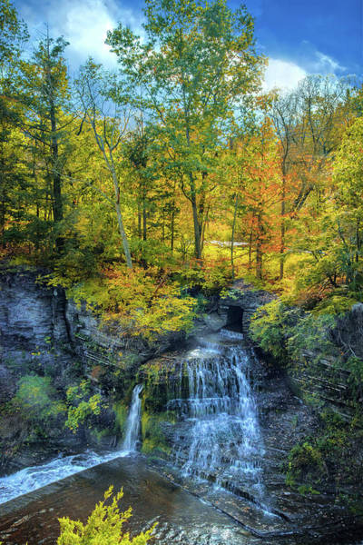 Wall Art - Photograph - Fall's Splendor At Upper Taughannock Falls by Lynn Bauer