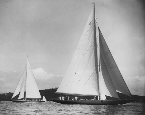 Falmouth Wall Art - Photograph - Falmouth Sailing by Hulton Archive