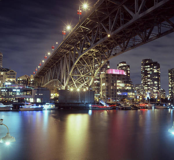False Creek Wall Art - Photograph - False Creek And Granville Street Bridge by Image © Glen Pennykid