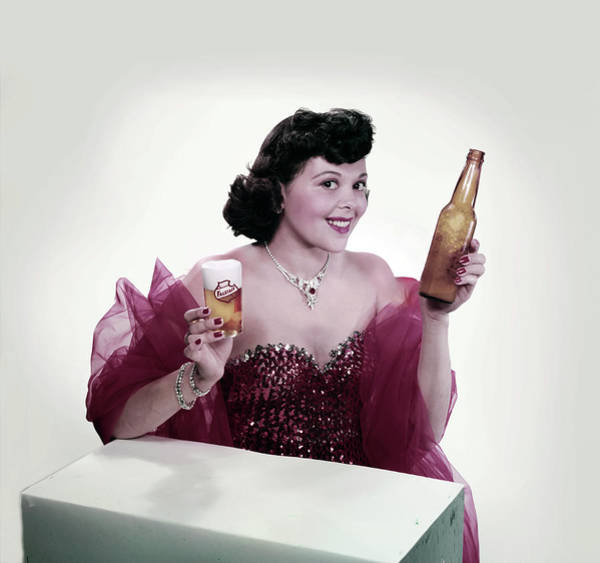 Photograph - Falstaff Beer Advertisement by Tom Kelley Archive