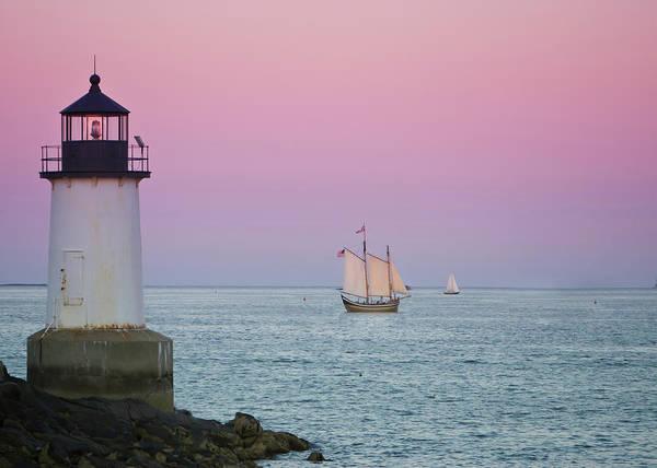 Pickering Photograph - Fame At Sunset On Salem Harbor by Jeff Folger