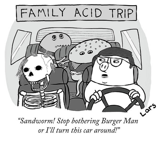 Drug Drawing - Family Acid Trip by Lars Kenseth