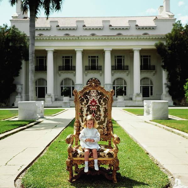 Square Photograph - Family Chair by Slim Aarons
