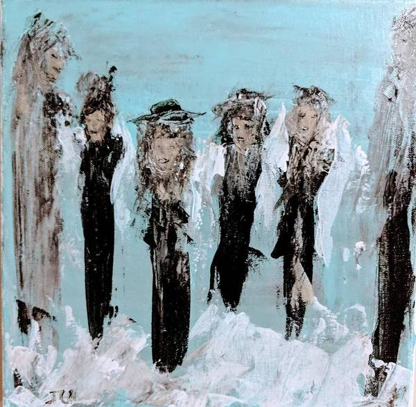 Painting - Family Of Angels Celebration  by Jennifer Nease