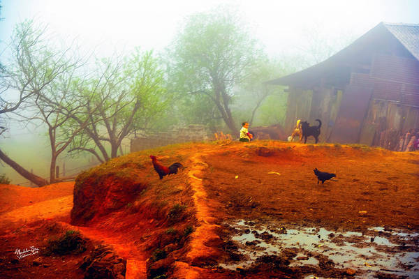 Wall Art - Photograph - Family On A Hill In Sapa, Vietnam by Madeline Ellis