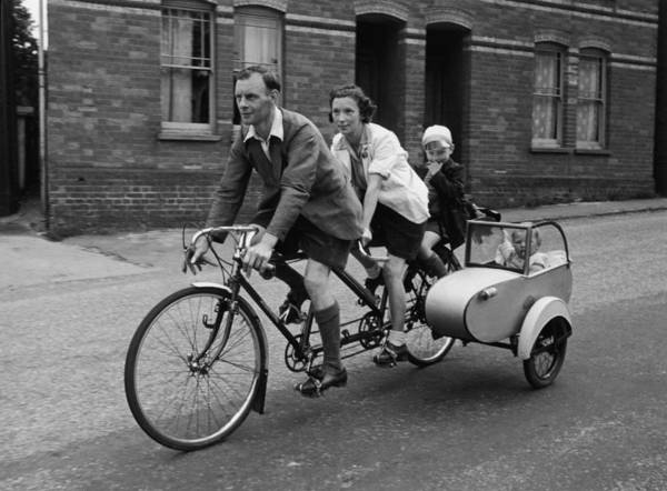 Family On Wheels Art Print