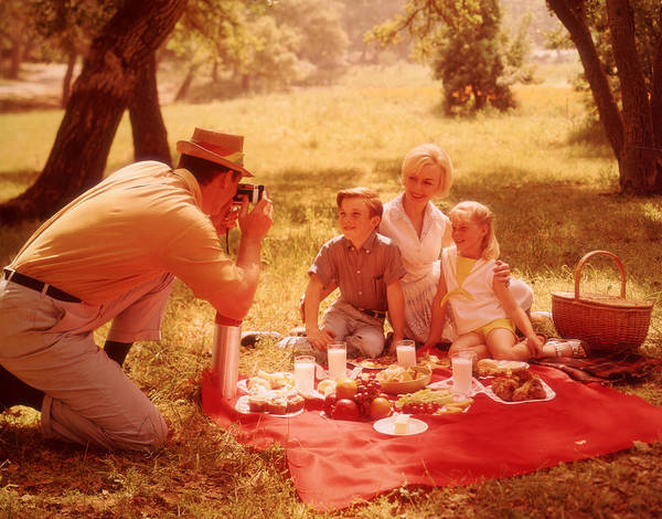Picnic Basket Wall Art - Photograph - Family Picnic by Fpg