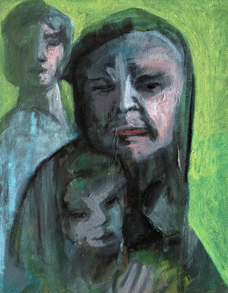 Painting - Family Portrait by Artist Dot