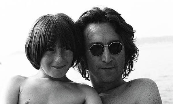 Wall Art - Photograph - Family Portrait John And Julian Lennon by Iconic Images Art Gallery David Pucciarelli