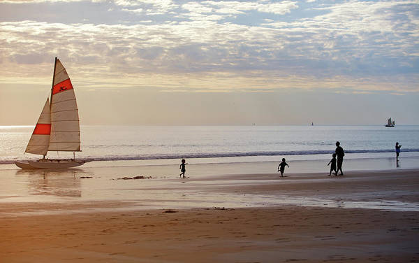Broome Photograph - Family Spending Time On Cable Beach by © Ingetje Tadros