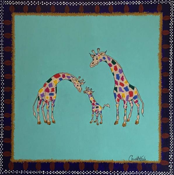 Wall Art - Painting - Family Time by Christal Kaple Art
