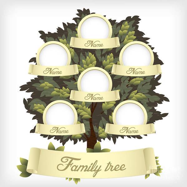 Conservation Wall Art - Digital Art - Family Tree.vector Illustration by Laralova