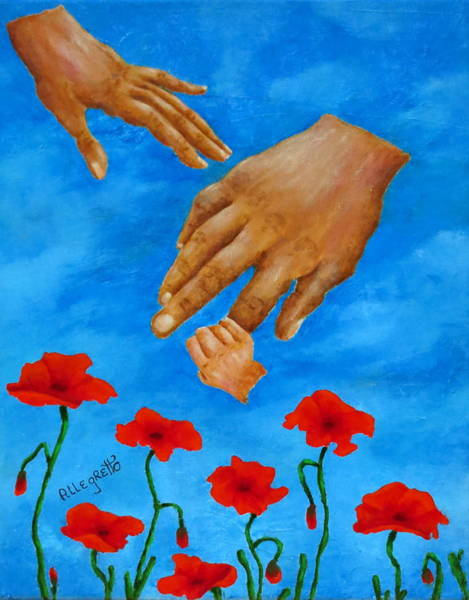 Wall Art - Painting - Family Unity by Pamela Allegretto