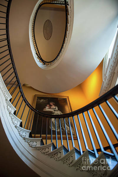 Photograph - Famous Free Floating Staircase by Dale Powell