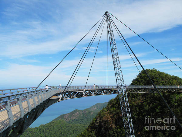 Bracing Photograph - Famous Hanging Bridge Of Langkawi by Alexander Chaikin