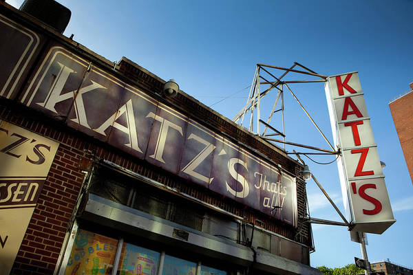 Delicatessen Photograph - Famous Katzs Delicatessen, New York by Huw Jones
