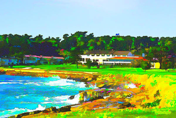 Photograph - Famous Pebble Beach Club House  by Barbara Snyder