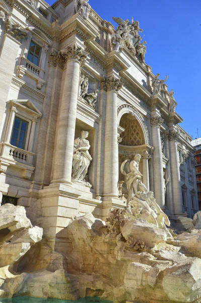 Photograph - Famous Trevi Fountain by JAMART Photography