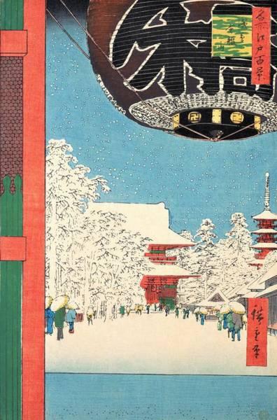 Wall Art - Painting - 100 Famous Views Of Edo - Asakusa, Kinryuzan by Utagawa Hiroshige